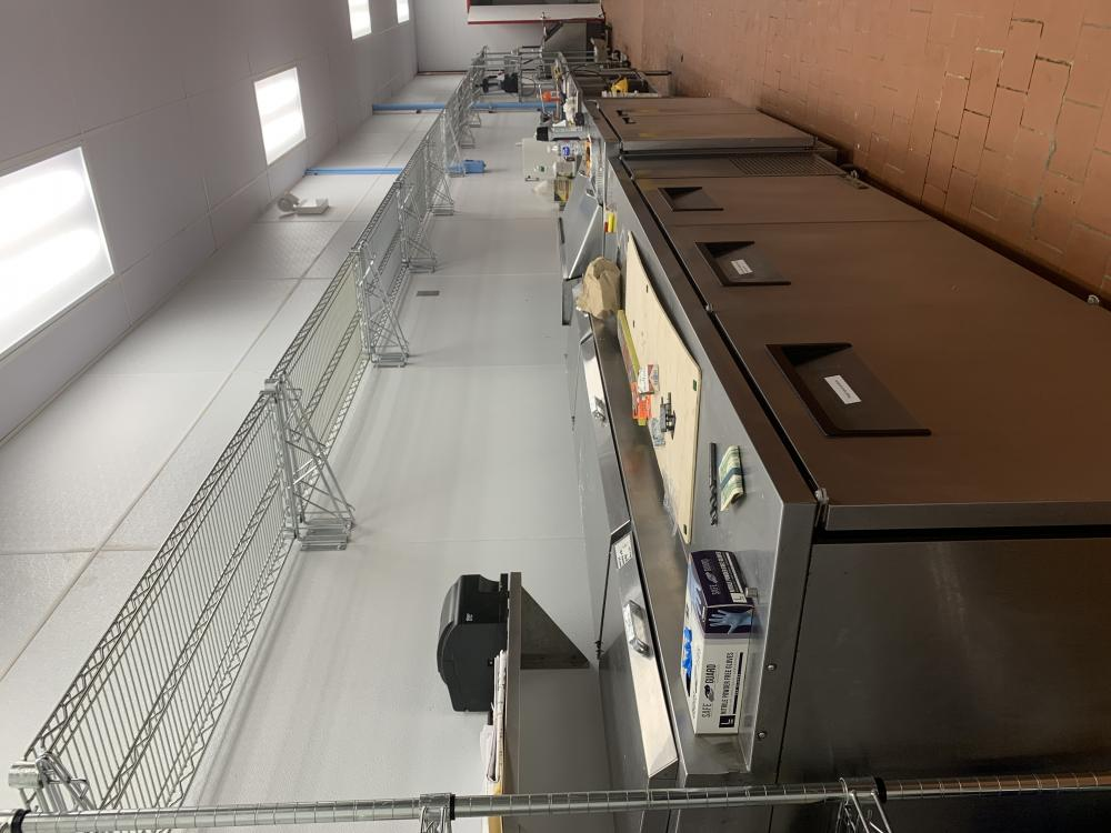 Large commercial kitchen with room to share