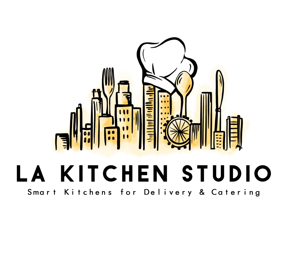 Logo LA Kitchen Studio. Smart Kitchen for Delivery and Catering